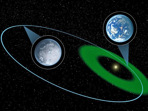 A hypothetical planet is depicted here moving through the habitable zone and then further out into a long, cold winter. (Image credit: NASA/JPL-Caltech)