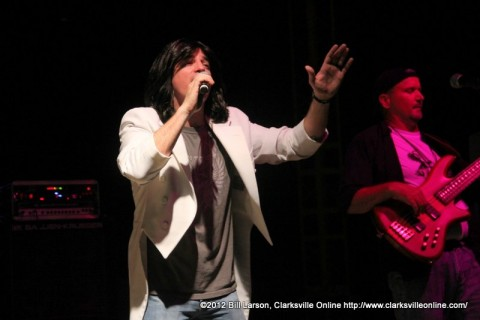 Ryan Christopher of the Journey Tribute Band Chain Reaction performing on Friday evening