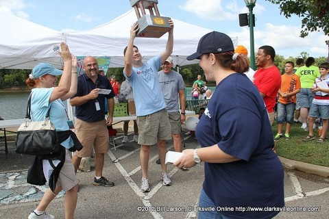The Clarksville City Council boat Council Crusier III takes the City Department Trophy