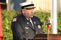 Clarksville Fire Chief Michael RobertsSpeaking at Clarksville's 9/11 Memorial Service