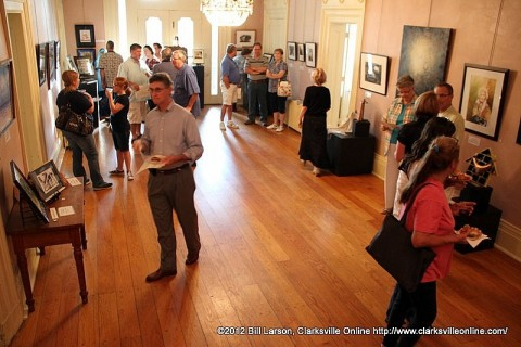 Artists and Patrons at the Smith Trahern Mansion on Friday for the Tour d'Art at the 2012 Riverfest Celebration