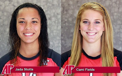 Jada Stotts and sophomore setter Cami Fields were named to the all-tournament team.