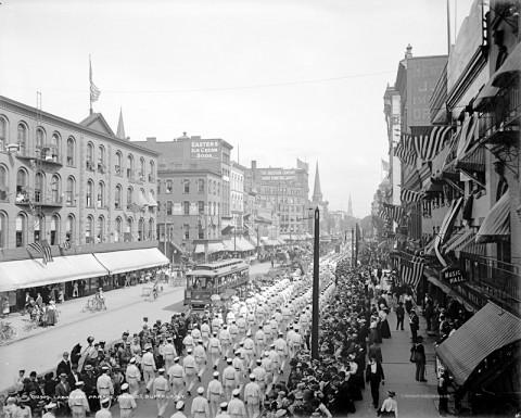 Labor Day parade, Main Street, Buffalo, NY, ca. 1900.