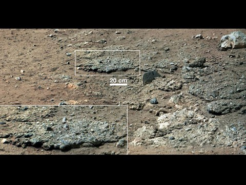 Best View of Goulburn Scour: This image from NASA's Curiosity Rover shows a high-resolution view of an area that is known as Goulburn Scour, a set of rocks blasted by the engines of Curiosity's descent stage on Mars. (Image credit: NASA/JPL-Caltech/MSSS)