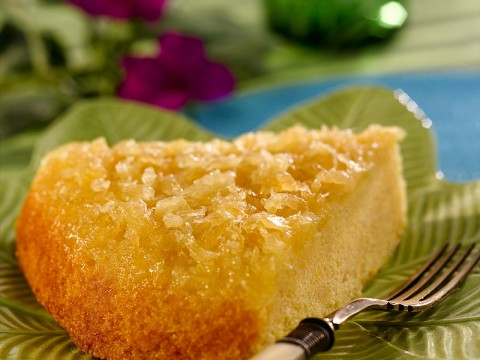 Pineapple Upside-Down Corn Meal Cake
