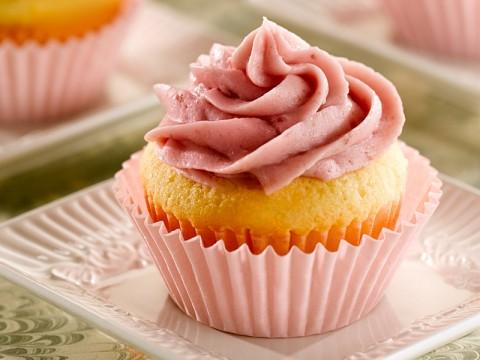 Raspberry Almond Pound Cake Cupcakes