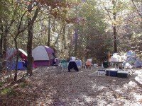 A multi-tent campsite (Image Courtesy of the U.S. Army Corps of Engineers)