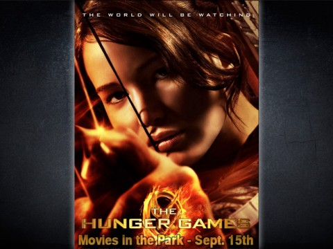 """The Hunger Games"" at Movies in the Park this Saturday, September 15th, 2012."