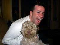 Author Chuck Sambuchino and his dog, Graham.