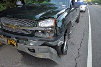 Driver of the pickup arrested for DUI after Madison Street Crash. (Photo by CPD-Jim Knoll)