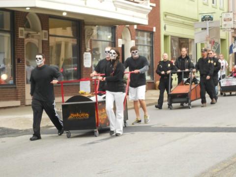 The Coffin races in Elizabethtown Kentucky