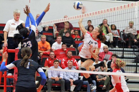 APSU Peay Women's Volleyball. (Courtesy: Brittney Sparn/APSU Sports Information)