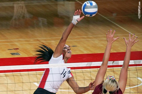 Sophomore Jada Stotts led Austin Peay with 16 kills in a win at Tennessee State, Saturday. (Courtesy: Keith Dorris/Dorris Photography)