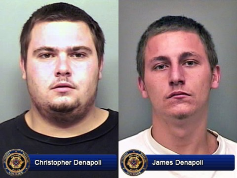 Christopher Denapoli and James Denapoli are Wanted by Clarksville Police for Aggravated Burglary and Aggravated Assault.