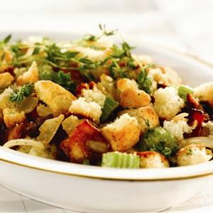 Cornbread Dressing with Smoked Bacon