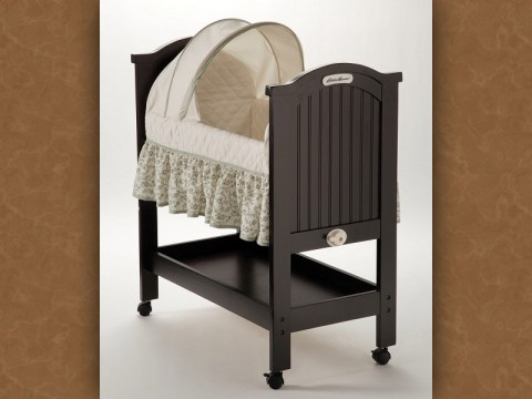 Eddie Bauer Rocking Wood Bassinet