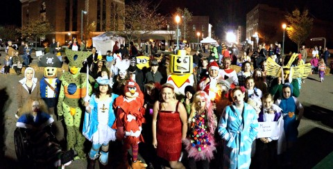 Costume contest participants at Fright on Franklin Street
