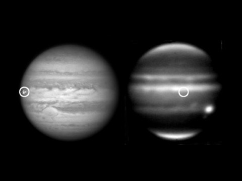 Jupiter has been suffering more impacts over the last four years than ever previously observed, including this meteoroid impact on September 10th, 2012. (Image credit: NASA/IRTF/JPL-Caltech/G. Hall/University of the Basque Country)