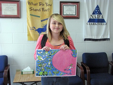 The grand prize winner, Starr Thorne of New Providence Middle School.