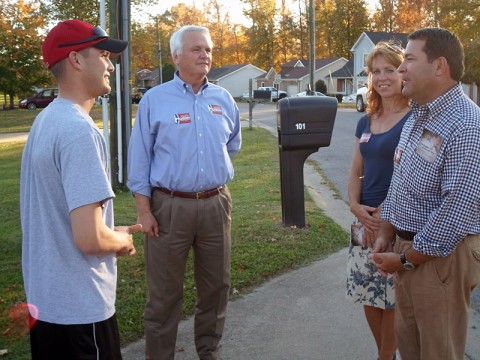Lt. Governor Ron Ramsey out campaigning with Mark Green.