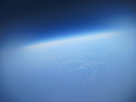 An image taken from the stratosphere.