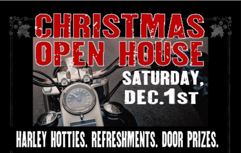 Appleton Harley-Davidson Christmas Open House Saturday