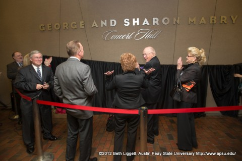 The official unveiling of the new name for the APSU Music/Mass Communication Building Concert Hall