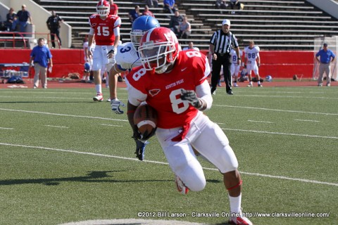 APSU running back Terrence Oliver scored two touchdowns during the game.