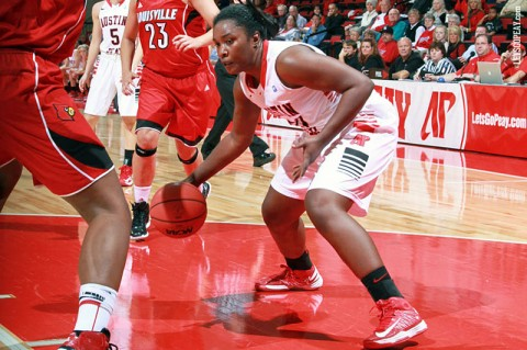 Freshman Jennifer Nwokocha finished with 12 points and six rebounds in the Lady Govs loss to William & Mary, Saturday. (Courtesy: Brittney Sparn/APSU Sports Information)