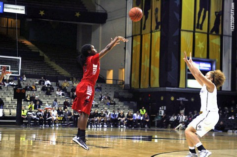 Freshman Tiasha Gray scored 12 points at Vanderbilt, Wednesday. (Courtesy: Keith Dorris/Dorris Photography)