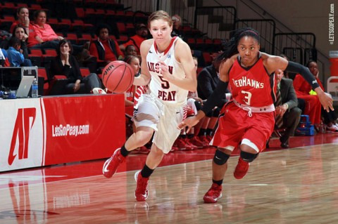 APSU Women's Basketball. (Courtesy: Brittney Sparn/APSU Sports Information)