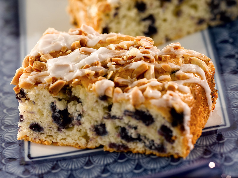 blueberry almond coffee cake made with our martha white blueberry