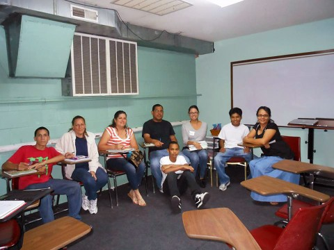 APSU Spanish 2000 students and members of the local Hispanic community meet at the Iglesia Casa de Restauracion Church for a new service-learning ESL course.