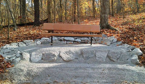One of ten rest areas along the Central Hardwoods Scenic Trail in Land Between The Lakes National Recreation Area. (Photo by Bill Ryan)