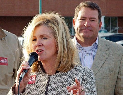 Congressman Marsha Blackburn and Mark Green.