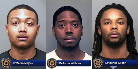 D'Mareo Majors, DeAndre Williams and Lawrence Gilbert.