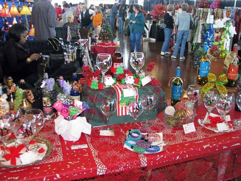 """Handmade Holidays""  features over 40 booths with different items to choose from."