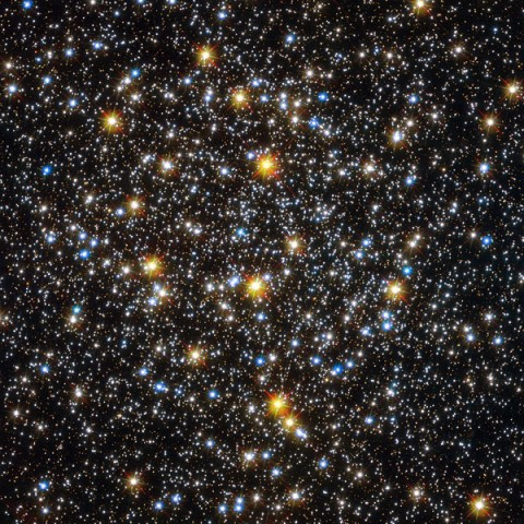 Image of the center of globular cluster NGC 6362 showing unexpected young looking stars. (Credit: ESA/Hubble & NASA)