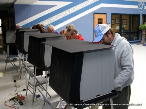 Voters at Cumberland Heights Elementary School