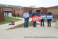 Wallace Redd and other Canvassers at Byrns-Darden Elementary School
