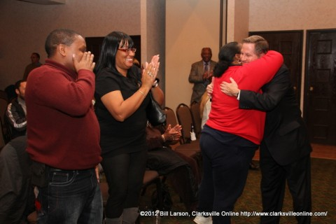 State Senator Tim Barnes thanking his supporters after conceding the race to Dr. Mark Green