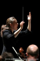Kelly Corcoran conducting the Nashville Symphony Orchestra and Chorus in Clarksville, TN.