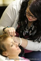 Tracy Billingsley gets her eyebrows waxed and plucked