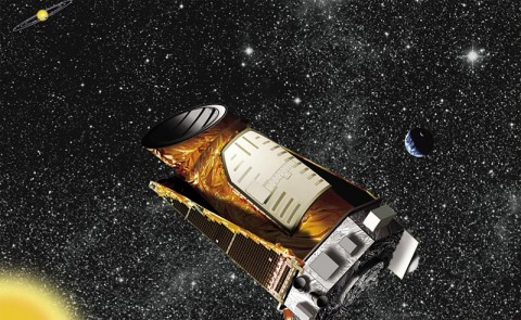 Artist's concept of Kepler in the distant solar system. (Image credit: NASA/JPL-Caltech)