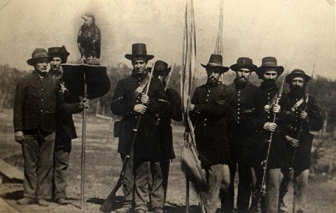 Old Abe and the 8th Wisconsin Volunteer Infantry Regiment Color Guard 1863.