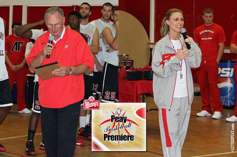 Dave Loos and Carrie Daniels at Peay Basketball Premiere Thursday. (Courtesy: Austin Peay Sports Information)
