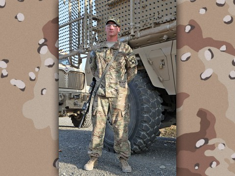 "Sgt. Joseph Wroniak, a Middleton, CT, native, and infantry team leader assigned to ""Choppin"" Company, 3rd Battalion, 187th Infantry Regiment, 3rd Brigade Combat Team, 101st Airborne Division (Air Assault), is deployed to Afghanistan in support of Operation Enduring Freedom. Wroniak is currently stationed at Forward Operation Base Salerno, a U.S.-led base in eastern Afghanistan. (U.S. Army Photo by: Sgt. 1st Class Abram Pinnington, TF 3/101 Public Affairs)"