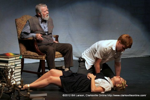 "(L to R) Jay Doolittle, Rob Rodems and Michelle Foletta, in ""The Giver"" set to open Wednesday, November 14th at the Roxy Regional Theatre."