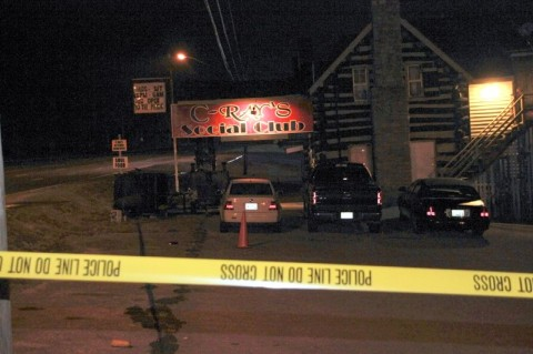 Clarksville Police processing the crime scene of a shooting death at C-Ray's Social Club on Fort Campbell Boulevard Friday Night, November 3rd. (Photo by CPD-Jim Knoll)