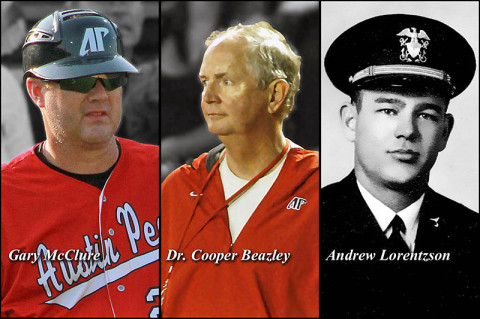 Gary McClure, Dr. W. Cooper Beazley and Andrew Lorentzson to be inducted into the APSU Athletic Hall of Fame. (Courtesy: Austin Peay Sports Information)